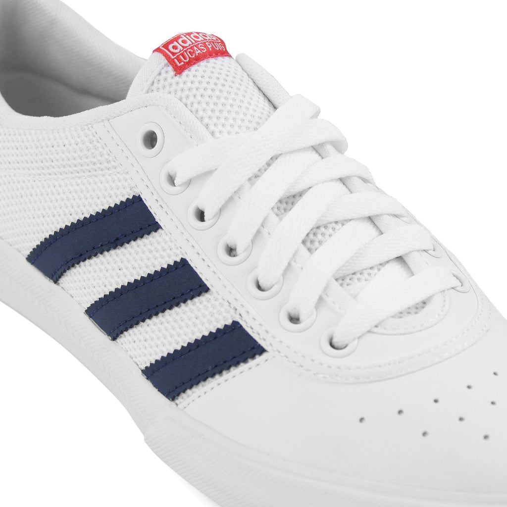 86922460310 Adidas Lucas Premiere ADV Shoes in White   Collegiate Navy   Scarlet -  Detail