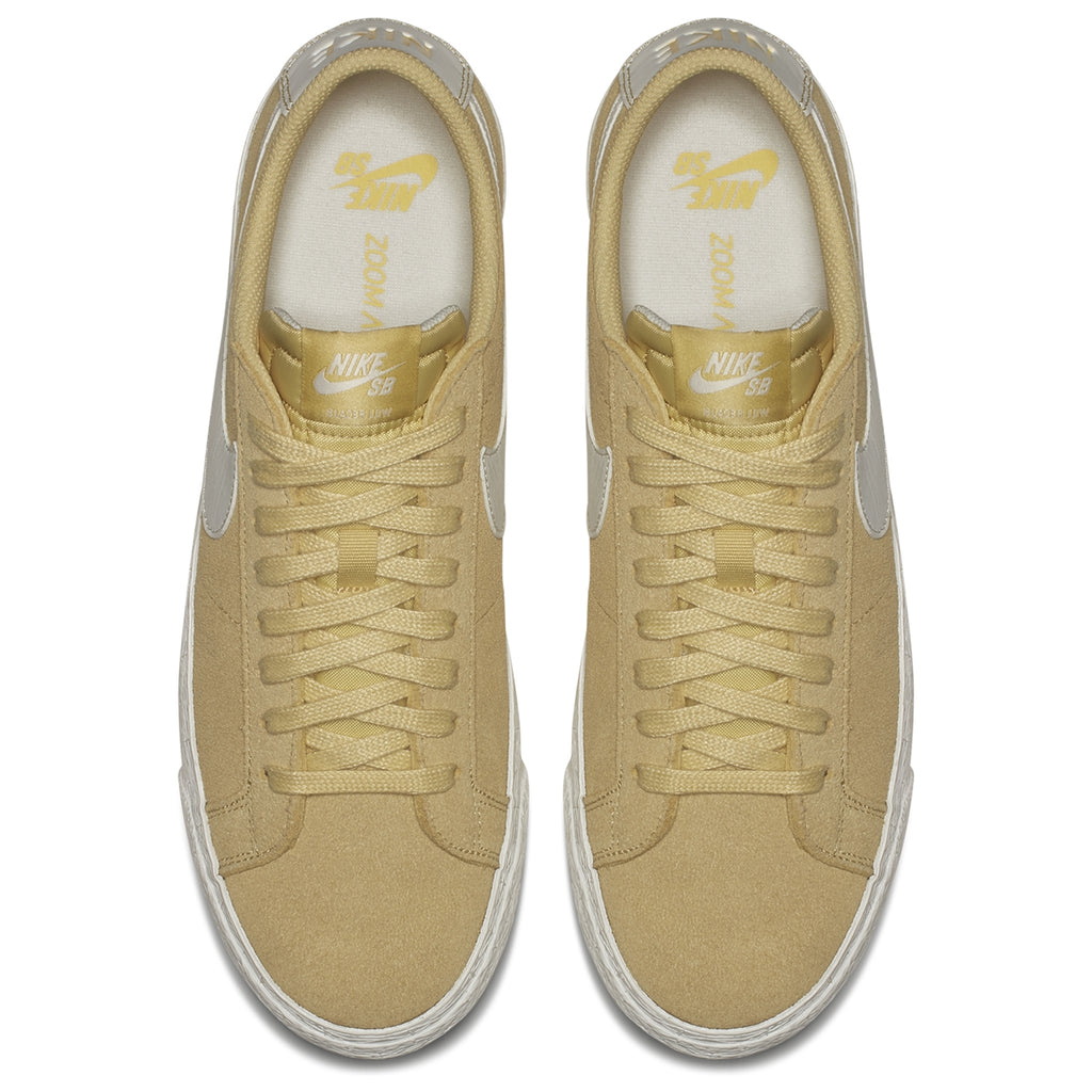 Nike SB Zoom Blazer Low Shoes in Lemon Wash / Summit White - Top