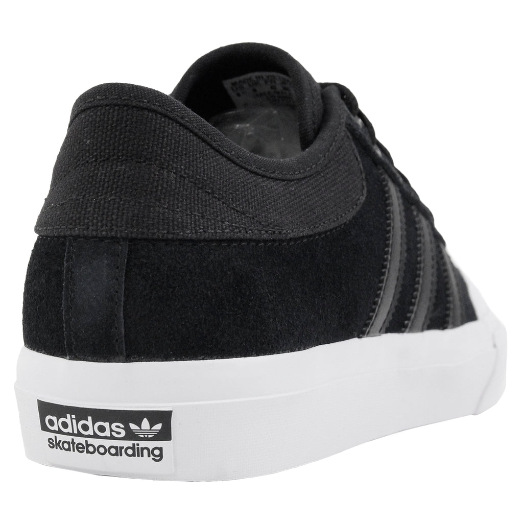 Adidas Skateboarding Matchcourt Shoes in Core Black / Core Black / FTW White - Heel
