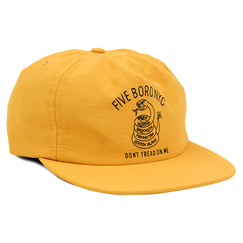 5Boro Don't Tread On Me Snapback Cap in Gold