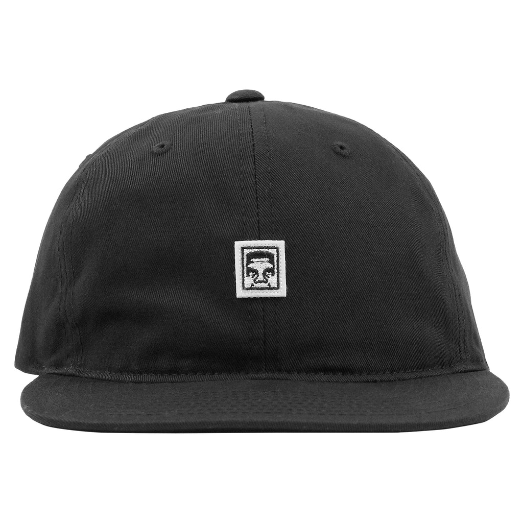 Obey Clothing Eighty Nine 6 Panel Cap in Black - Front
