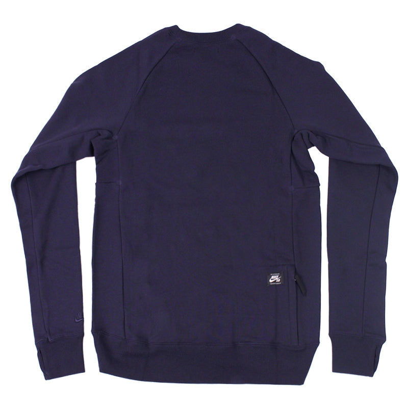 Nike SB Everett Crew Fleece Sweatshirt in Obsidian - Back