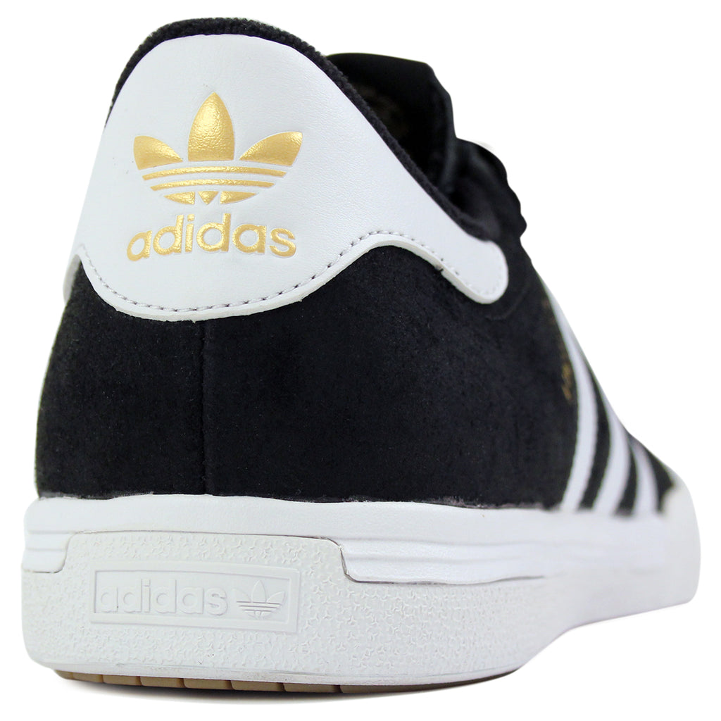 Adidas Skateboarding Lucas ADV Shoes in Core Black/FTW White/Gold Metallic - Heel