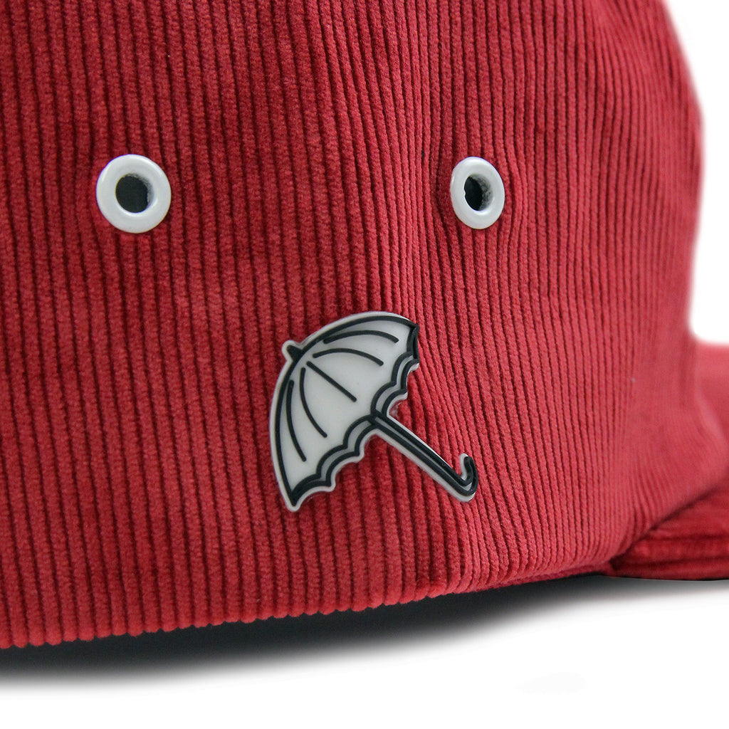 Helas Sunday 5 Panel Cap in Burgundy - Umbrella