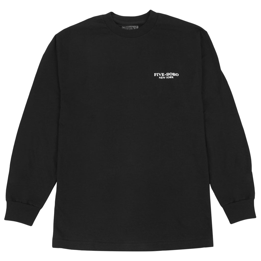 5Boro Lover / Fighter L/S T Shirt in Black - Detail
