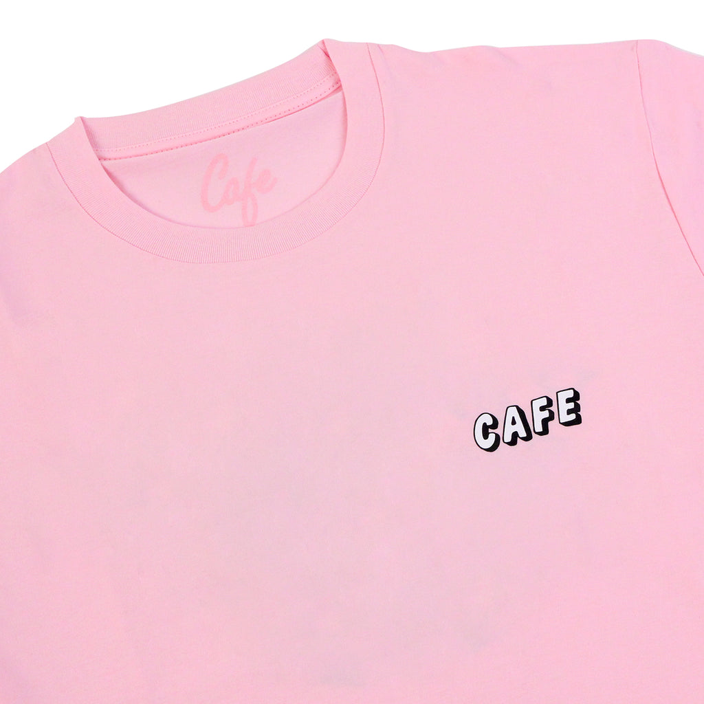 Skateboard Cafe Planet Donut T Shirt in Pink - Detail