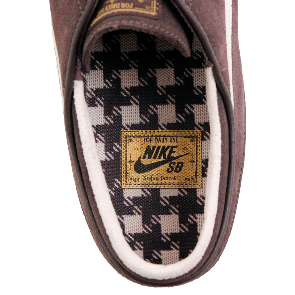 Nike SB Stefan Janoski OG Shoes in Cappuccino / Snowdrift - White - Metallic Gold - Inside