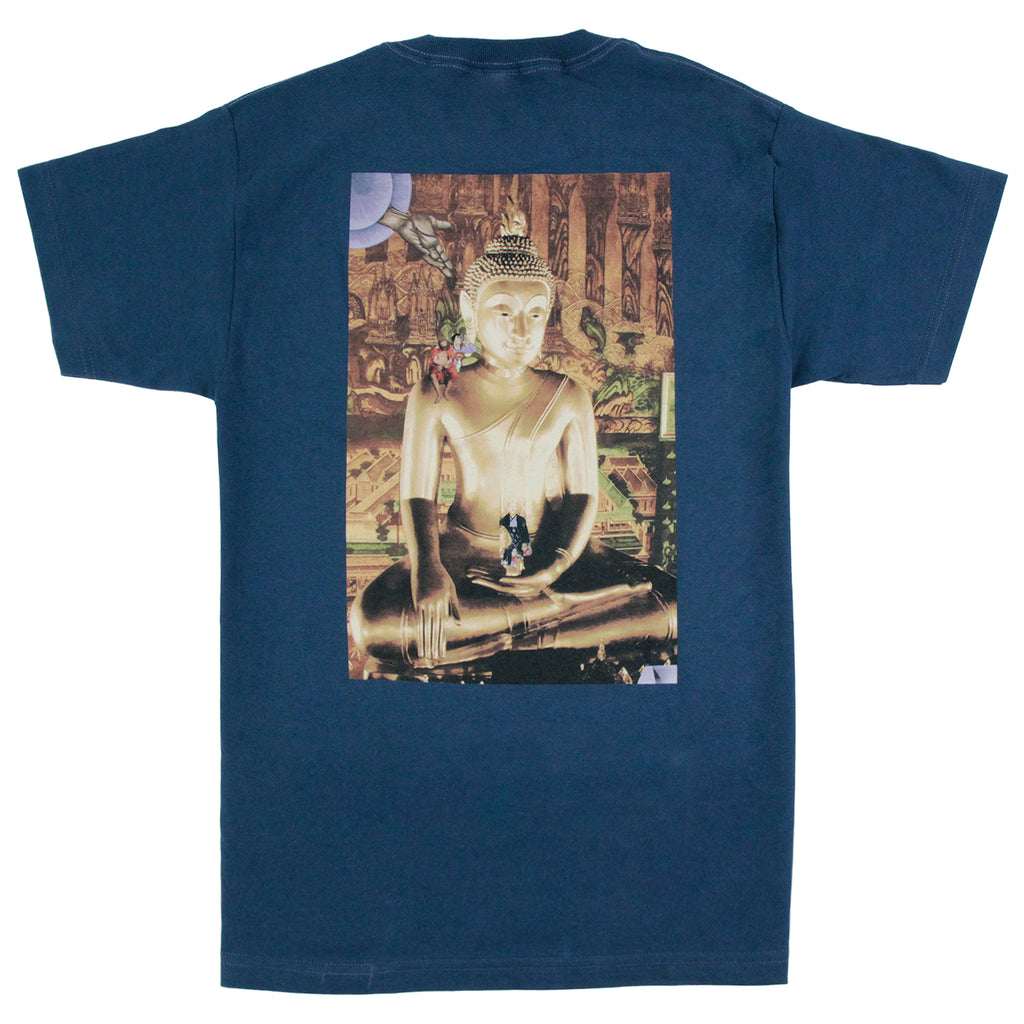 Fucking Awesome NAK Buddha Pocket T Shirt in Slate - Back print