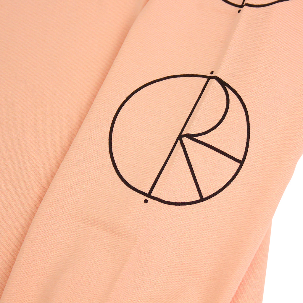 Polar Skate Co Racing L/S T Shirt in Pastel Peach / Black - Print