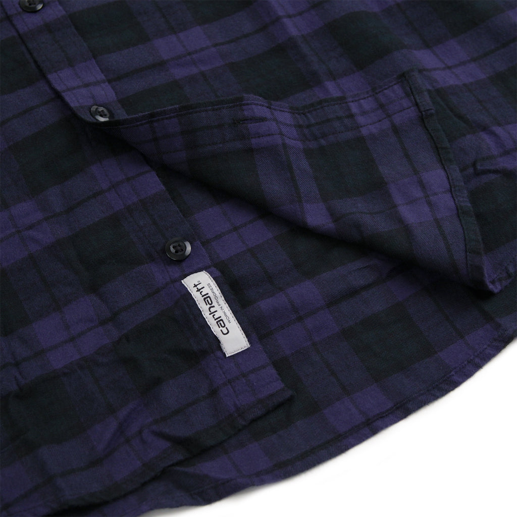 Carhartt L/S Norton Shirt in Blue / Parsley - Label 2