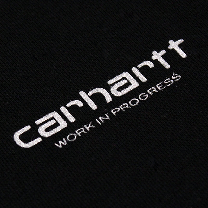 Carhartt WIP Brody T Shirt in Black / Reflective Grey - Print