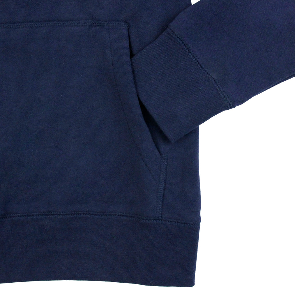 Obey Clothing Propaganda Seal Hoodie in Navy - Sleeve
