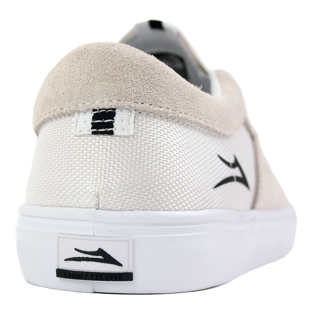 Lakai Owen Chalk Pack Shoes in White - Heel