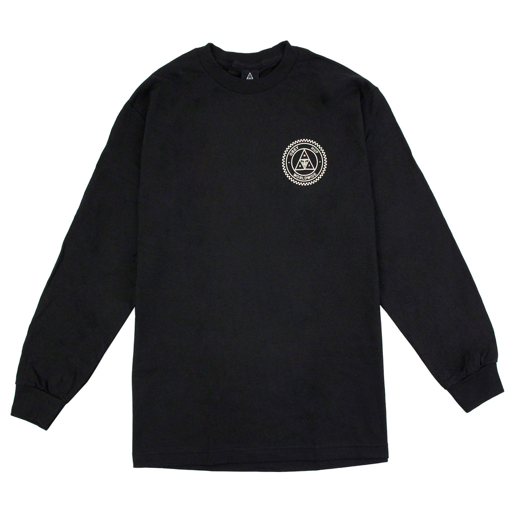 HUF x Obey Rat Race L/S T Shirt in Black