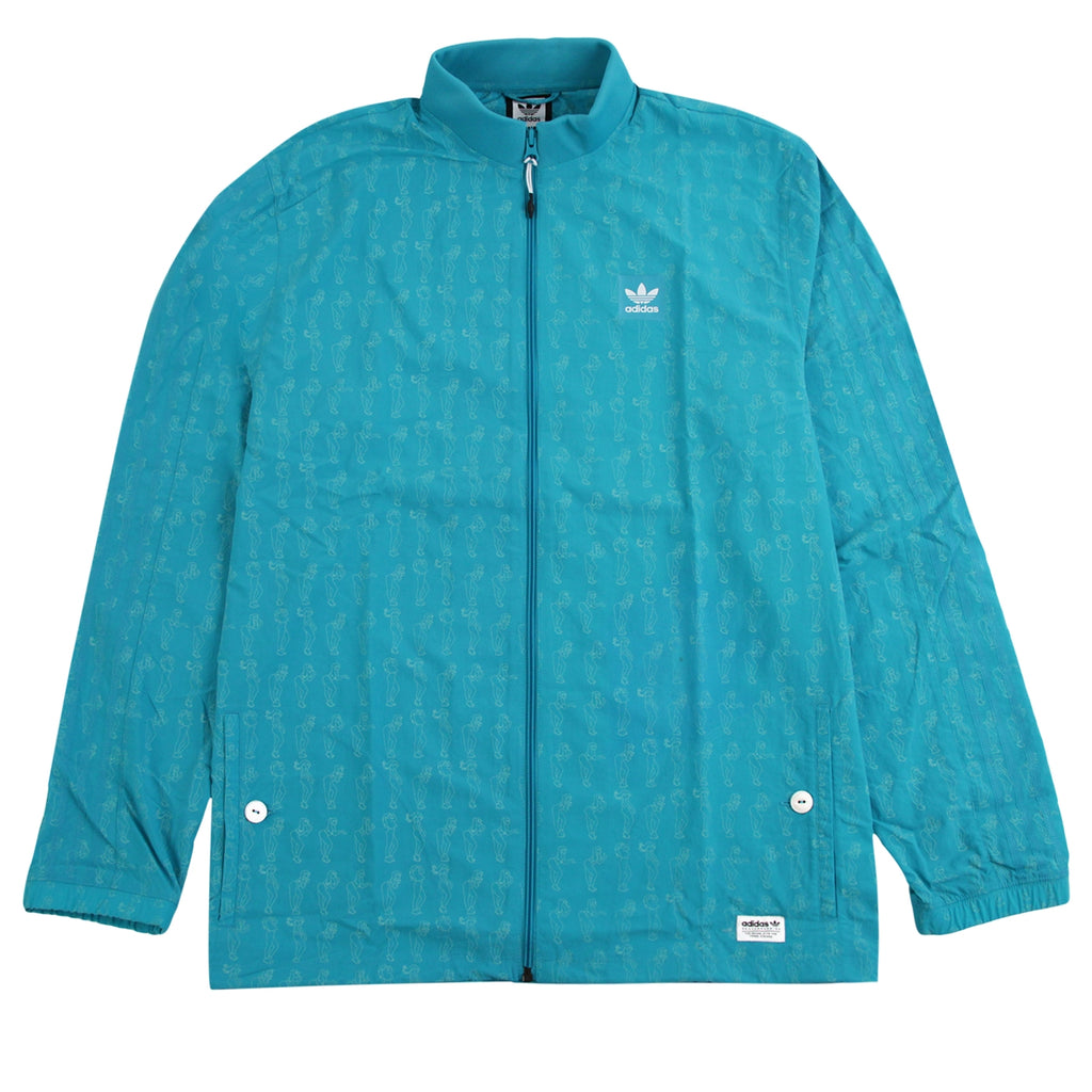 Adidas Skateboarding Robin Clare Jacket in Shock Green