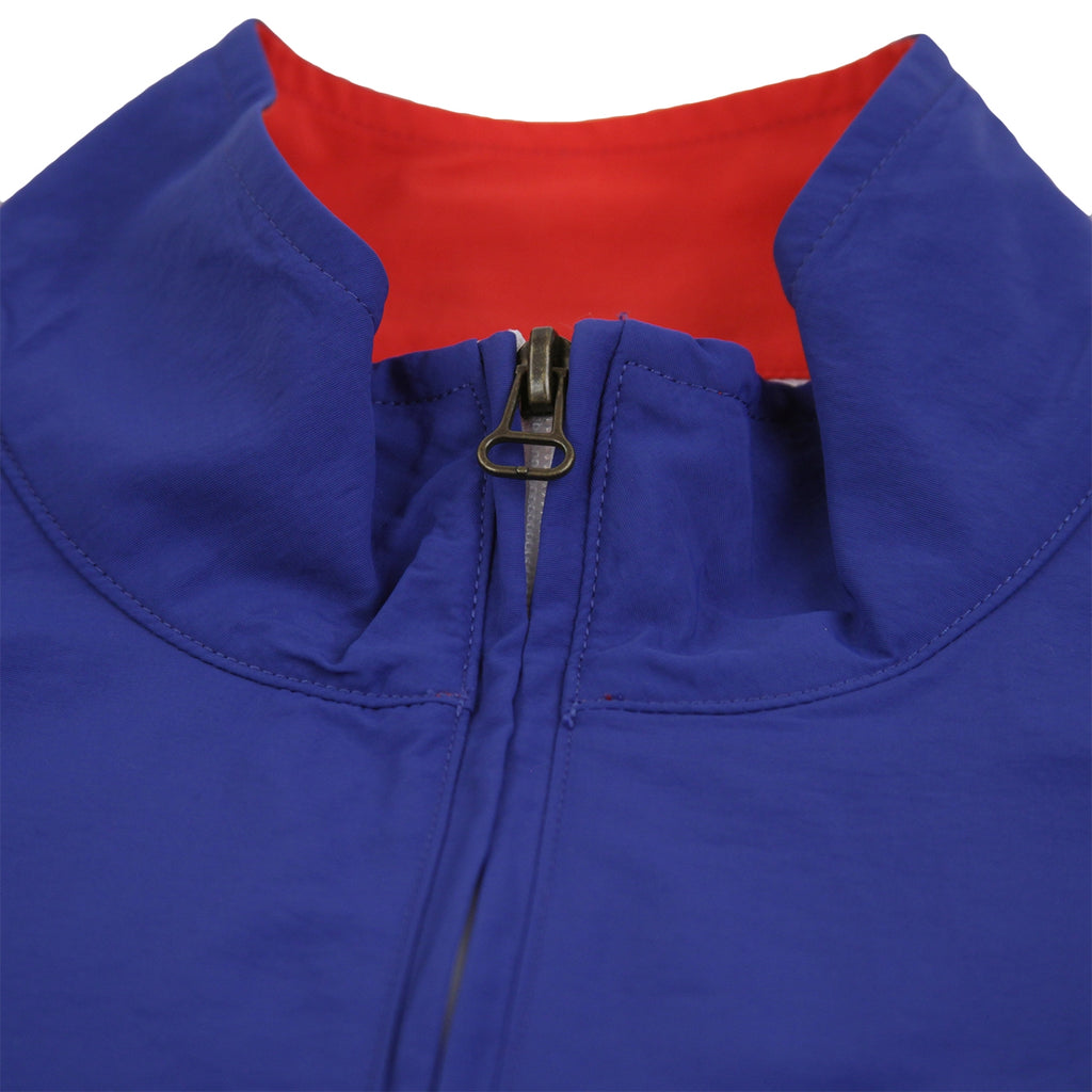 Champion Reverse Weave Half Zip Track Top in Red / Blue / White - Neck