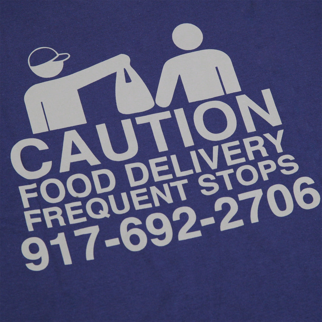 Call Me 917 Food Delivery T Shirt in Navy - Back Print