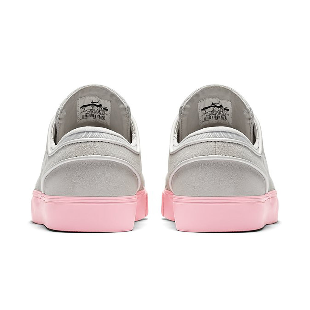 Nike SB Zoom Stefan Janoski Shoes in Vast Grey / Phantom - Bubblegum - Heel