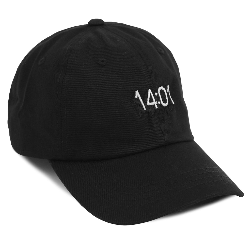 14:01 Skateboard Co Logo Dad Cap in Black