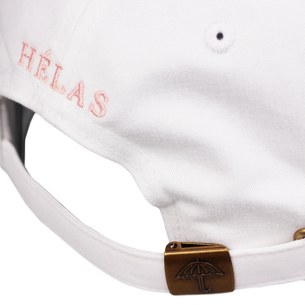 Helas Classic 6 Panel Cap in White / Pink - Back