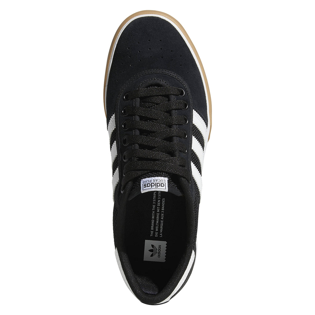 Adidas Lucas Premiere Shoes in Core Black / Footwear White / Gum - Top