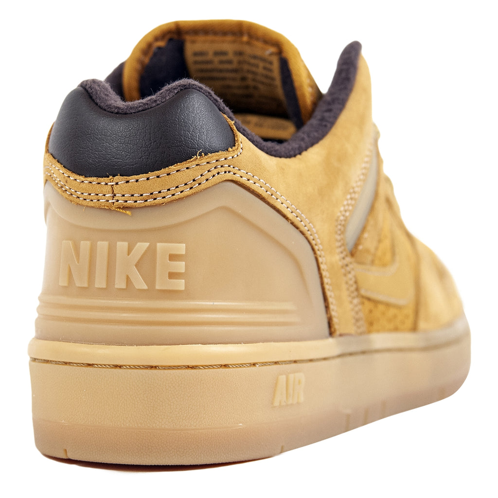 Nike SB Air Force II Low Premium Shoe in Bronze / Bronze - Baroque Brown - Heel