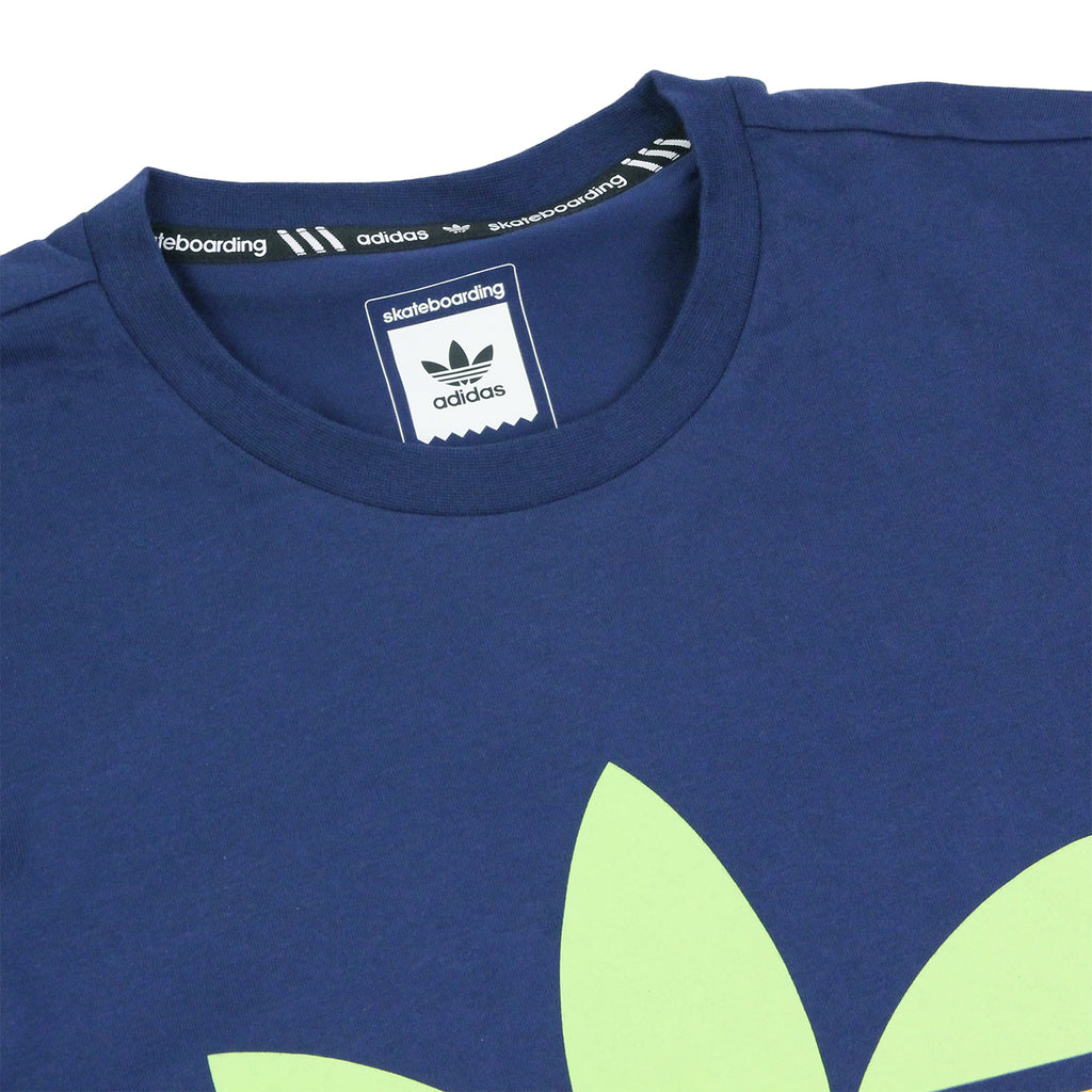 Adidas Skateboarding Adv Color Fill T Shirt in Oxford Blue - Detail