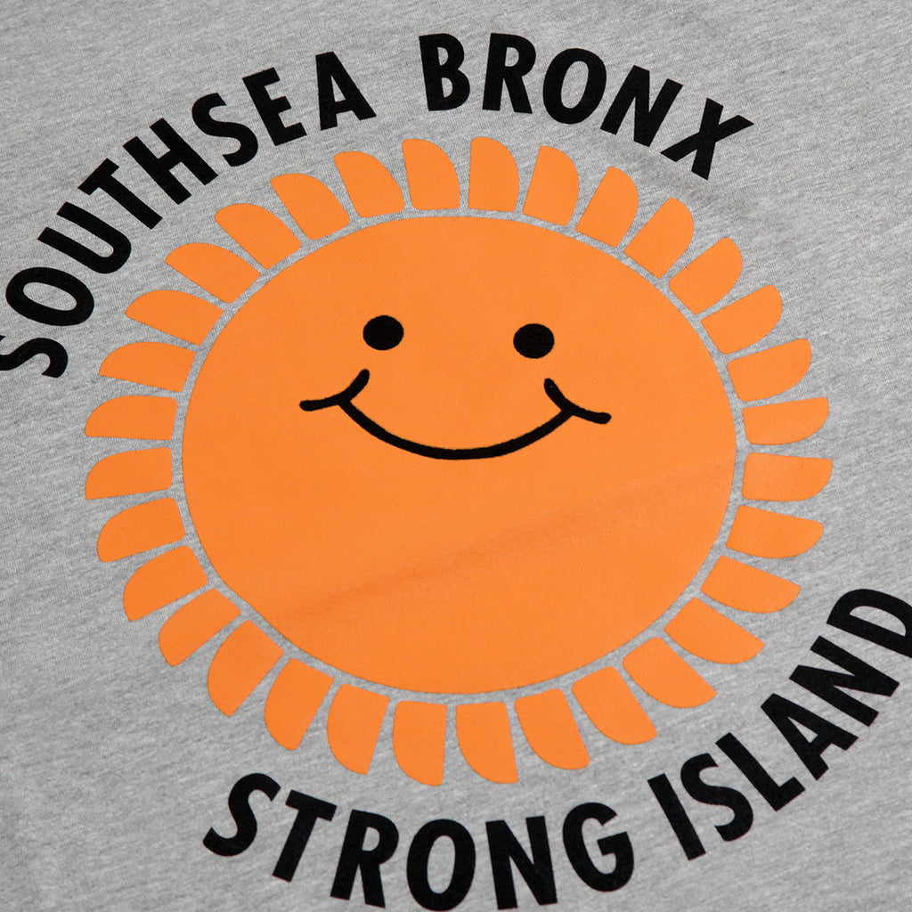 Southsea Bronx Strong Island Sweatshirt in Heather Grey - Print