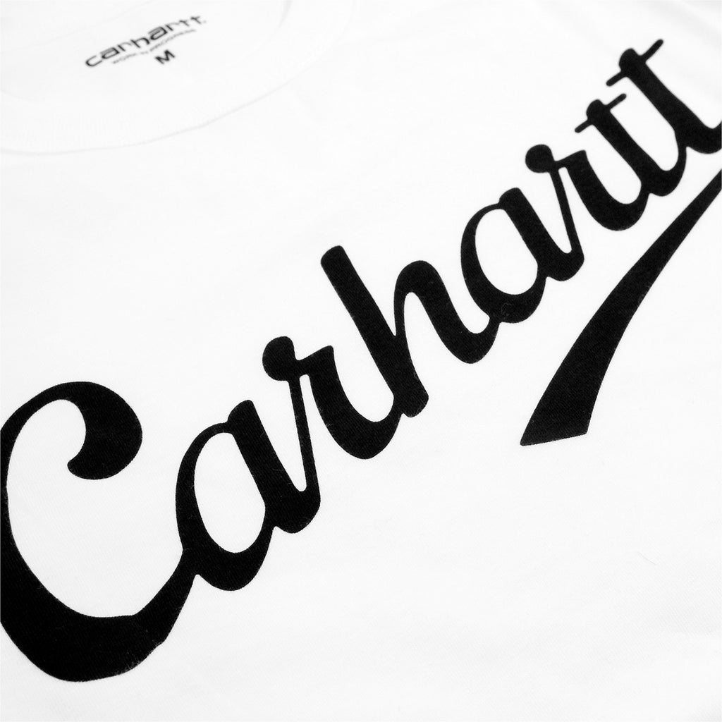 Carhartt L/S League T Shirt in White / Cordovan - Print