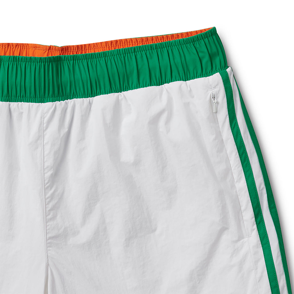Adidas x Helas Wind Shorts in White - Detail