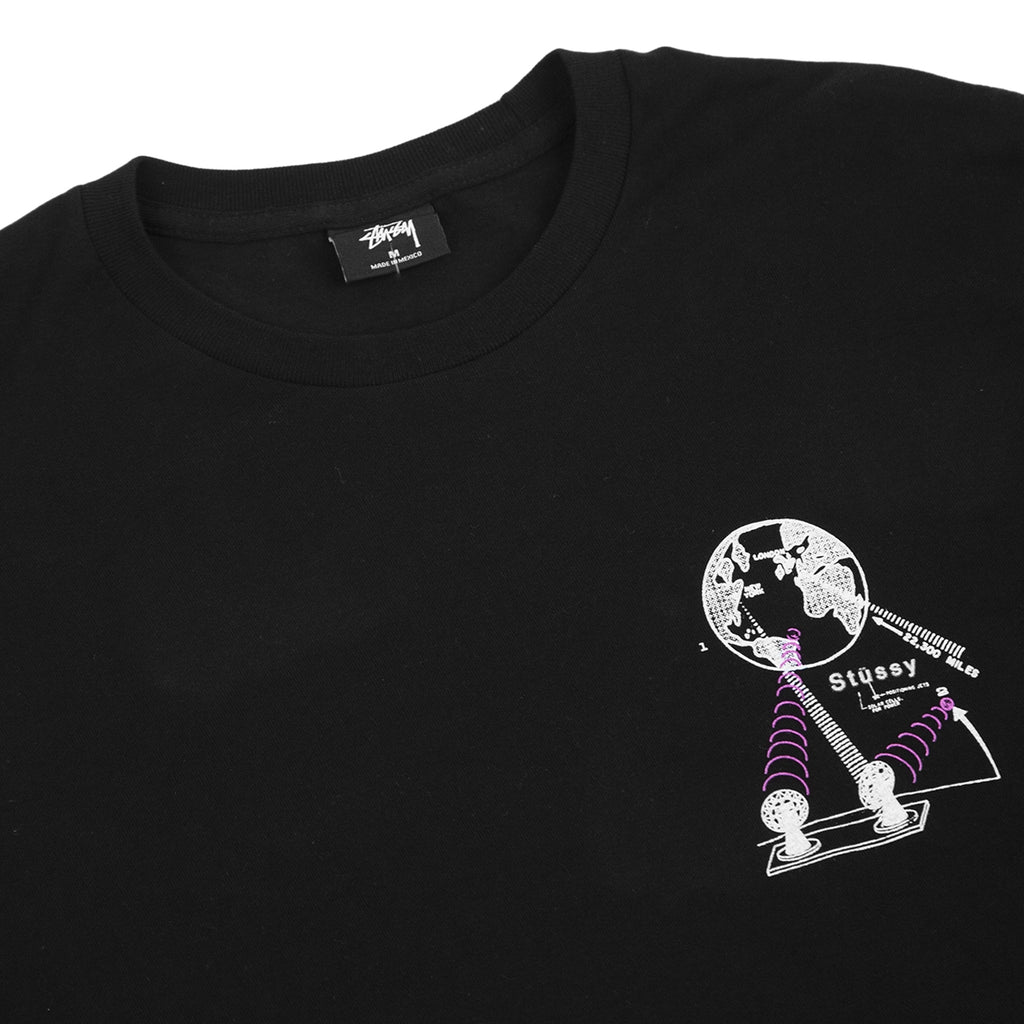 Stussy Space T Shirt in Black - Detail
