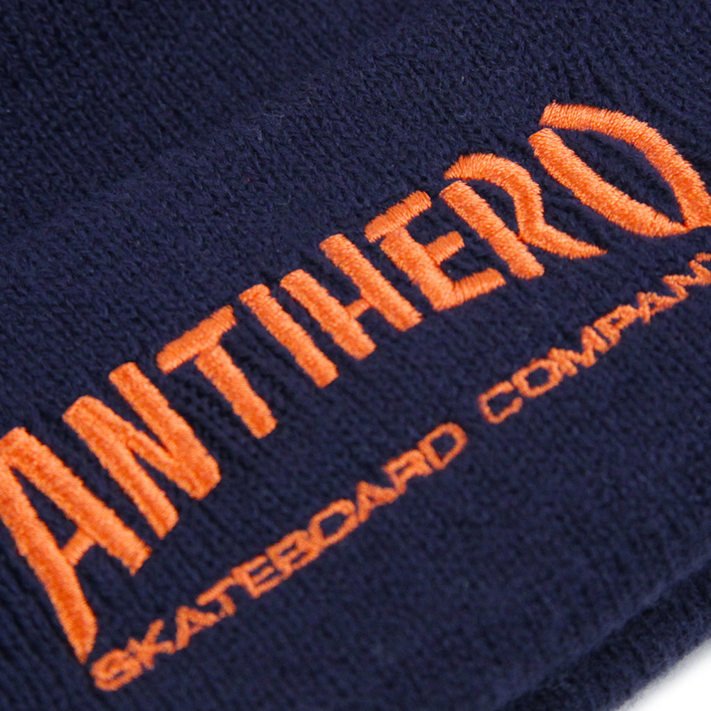 Anti Hero Skateboards Skate Co Beanie in Navy - Logo