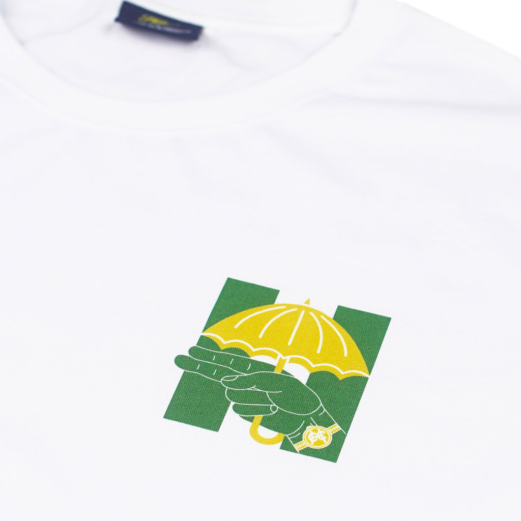 Helas Silent H Gun T Shirt in White / Green / Yellow - Detail