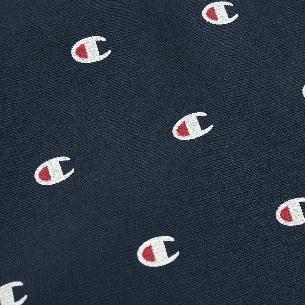 Champion All Over Elastic Cuff Pant in Navy - Print