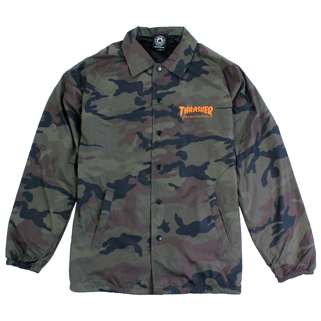 Thrasher Skategoat Coaches Jacket in Camo