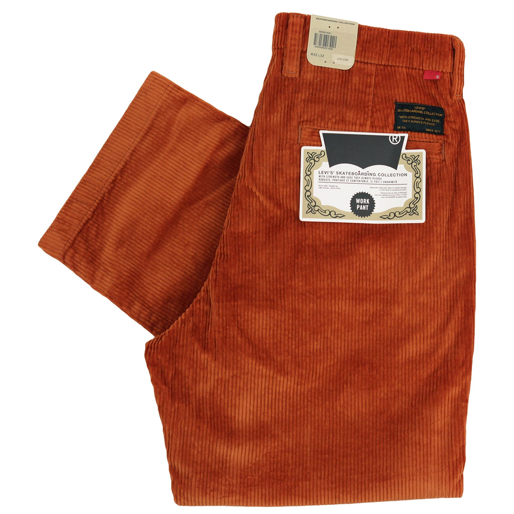 Levis Skateboarding Pleated Trousers in Bombay Brown - Folded