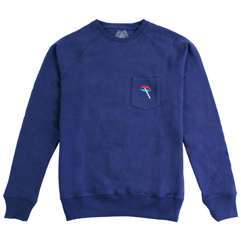 Palace Lips Pocket Crew in Blue