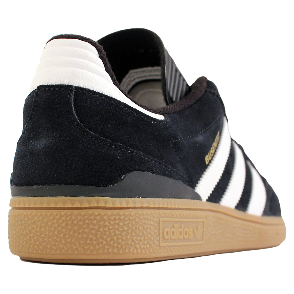 Adidas Busenitz Shoes in Black / Running White / Metallic Gold - Heel