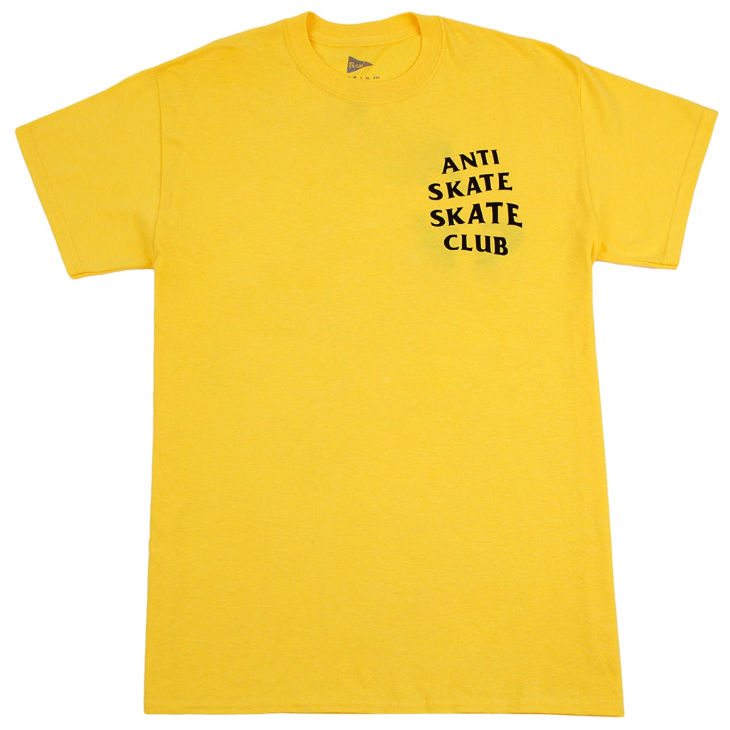 Bored of Southsea Anti Skate Club T Shirt in Yellow - Front