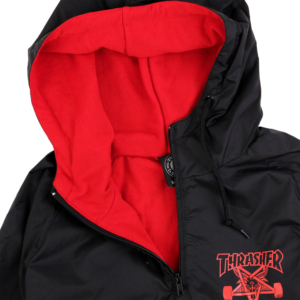 Thrasher Skategoat Coach Hooded Jacket in Black / Red - Hood