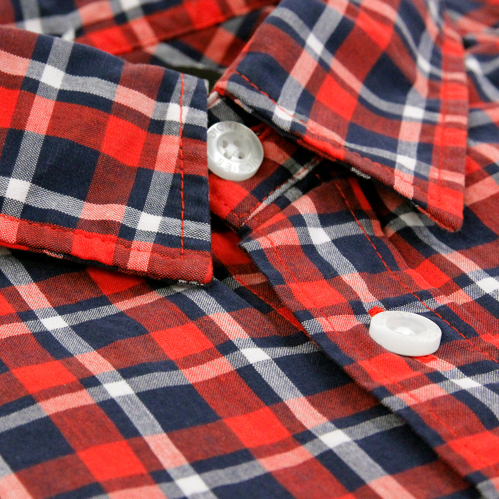 Dickies Laytonville Shirt in Red - Collar
