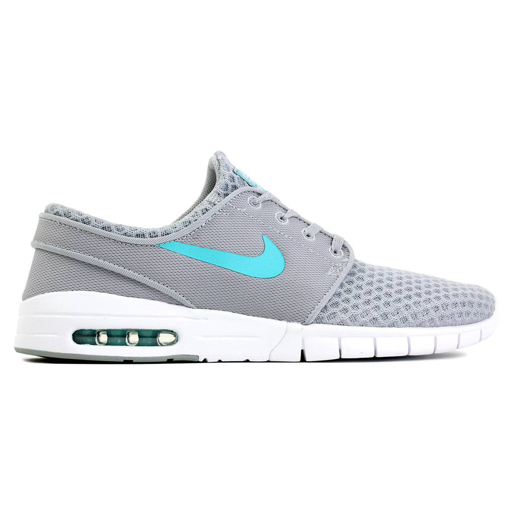 Nike SB Stefan Janoski Max L Shoes in Wolf Grey / Light Retro / White