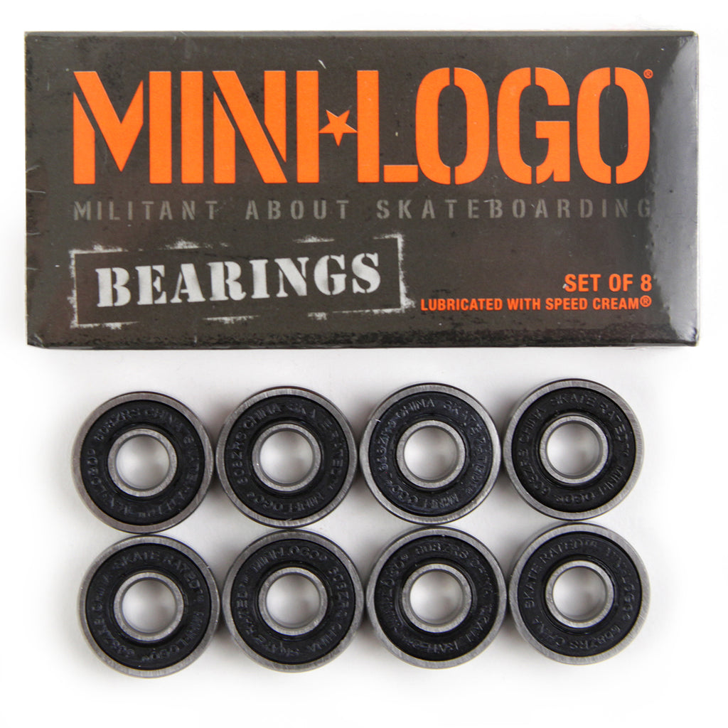 Bones Bearings Mini Logo Skateboard Bearings - Mini Logo