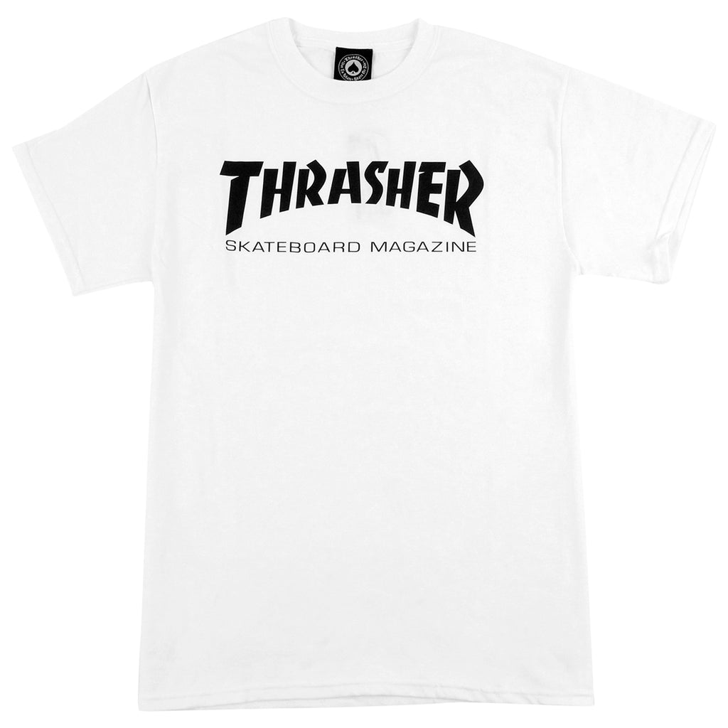 Thrasher Skate Mag Logo T Shirt in White