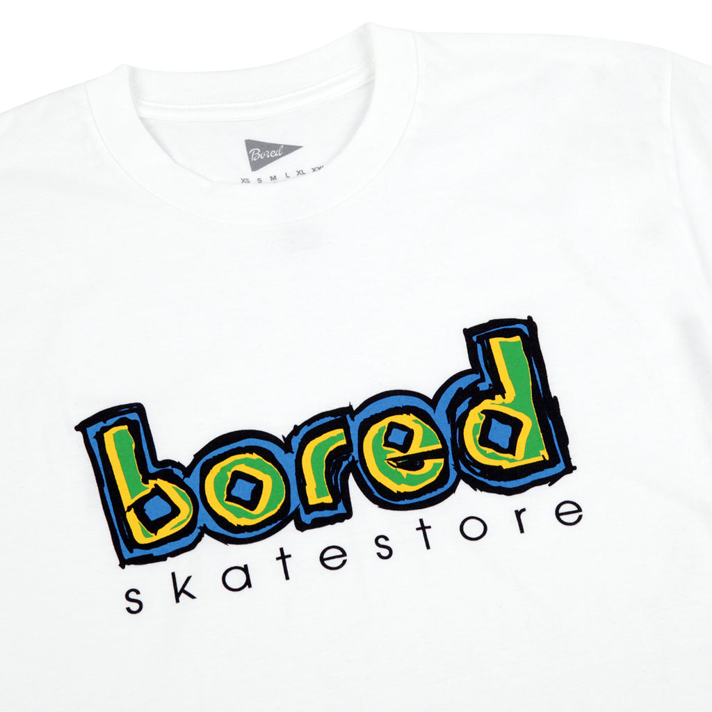 Bored of Southsea Blinding T Shirt in White - Detail