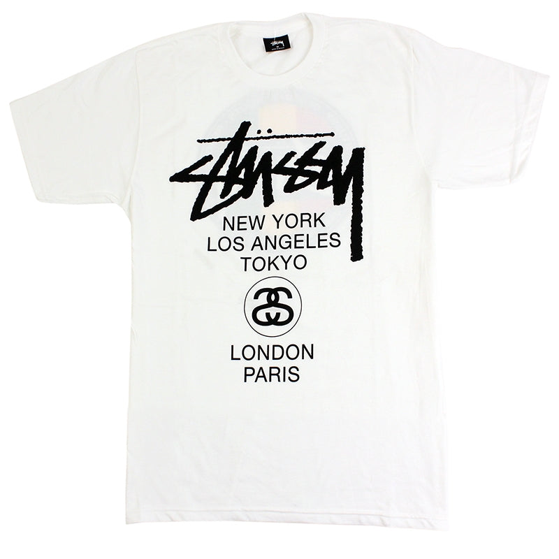 Stussy WT Dot T Shirt in White