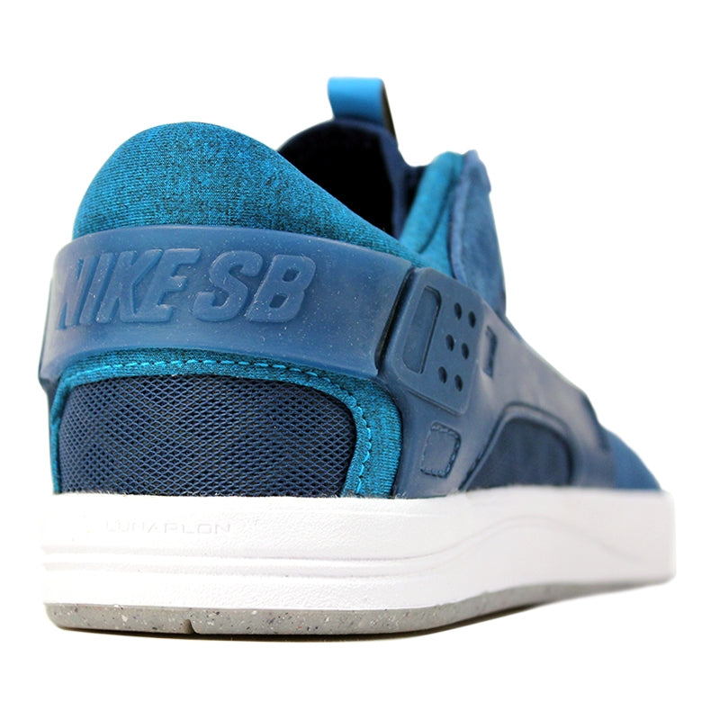 Nike SB Eric Koston Huarache Shoes in Blue Force / Blue Lagoon / White - Heel