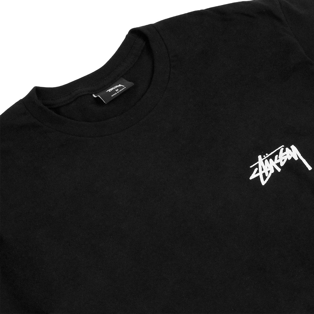 Stussy 3 Palms T Shirt in Black - Detail