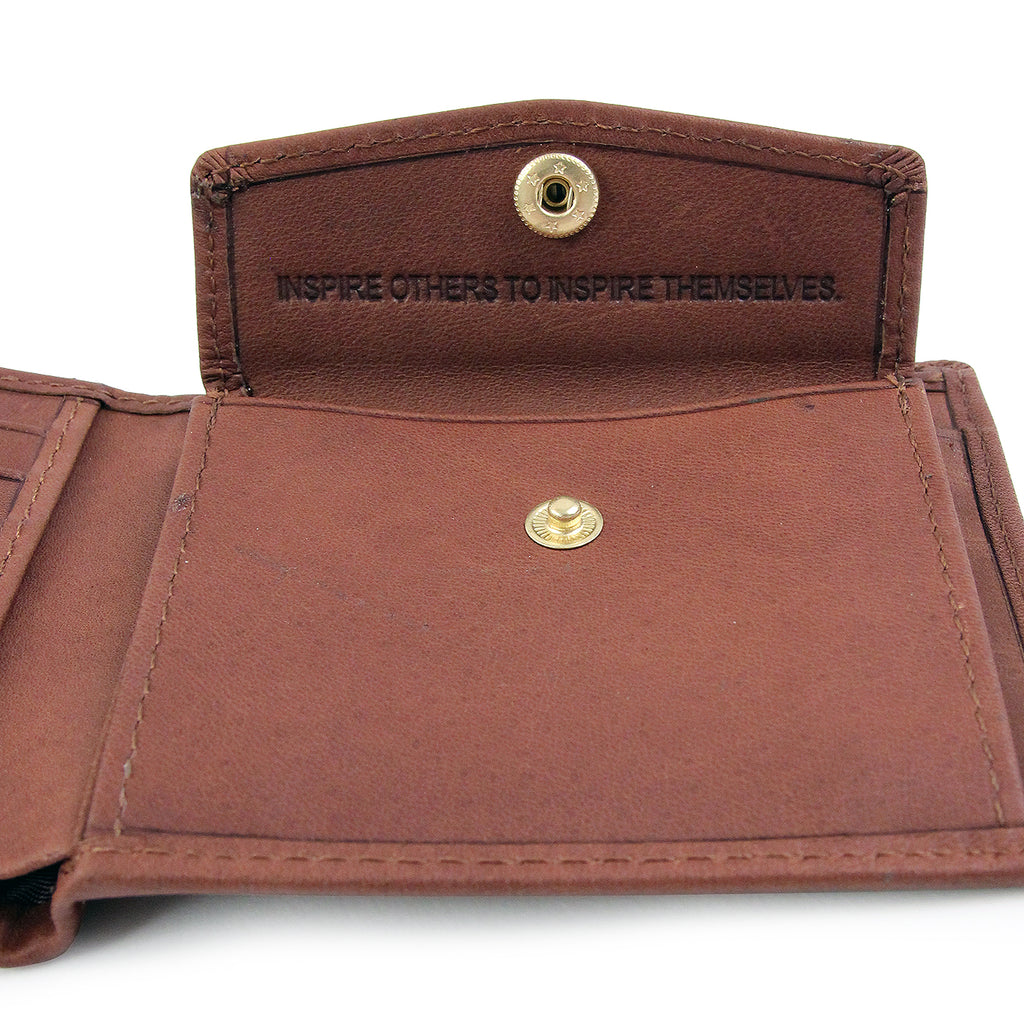 Polar Skate Co No Comply Wallet in Brown - Pouch