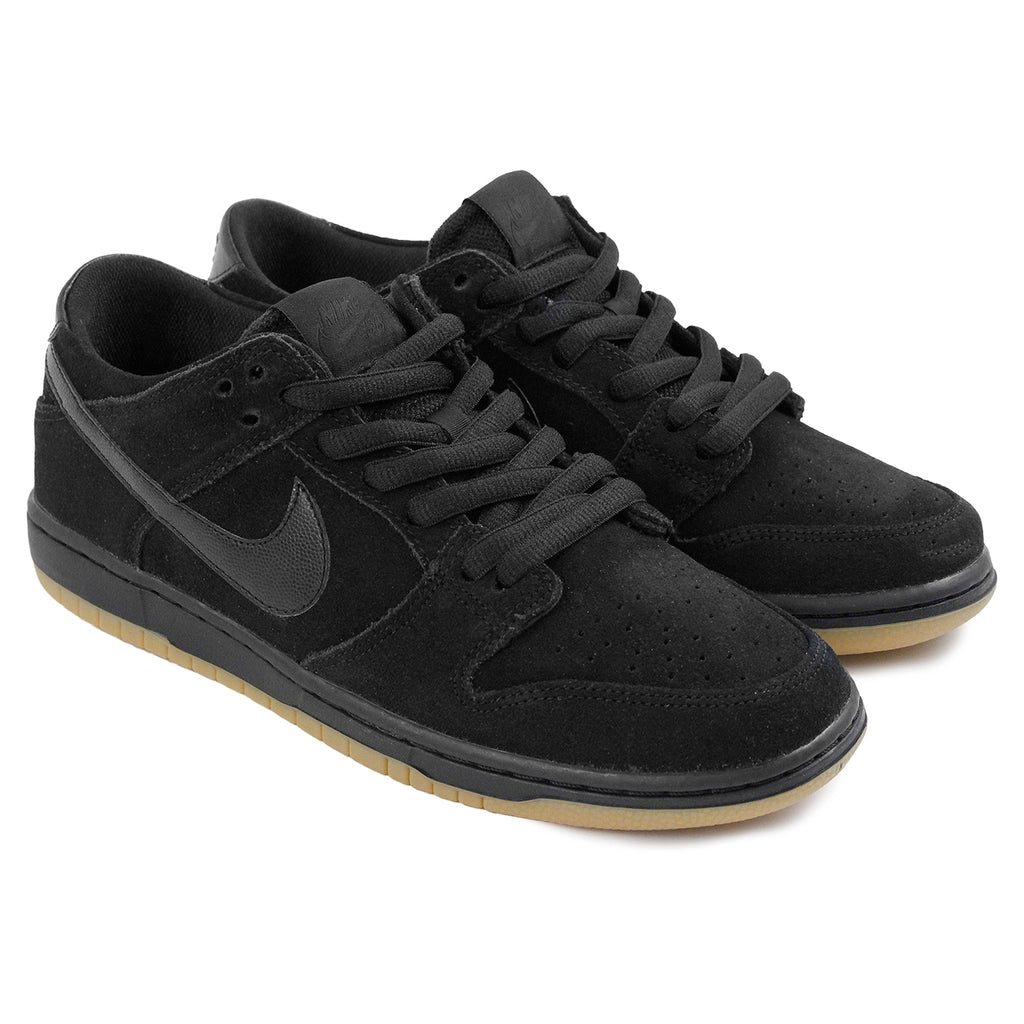 Nike SB Dunk Low Pro Ishod Wair Shoes in Black / Black-Gum Light Brown - Pair